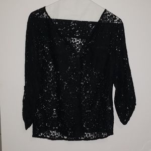 Black Lace New York & Co. Blouse